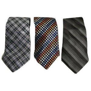 Lot of 3 Vintage Skinny Ties George Steve & Barrys